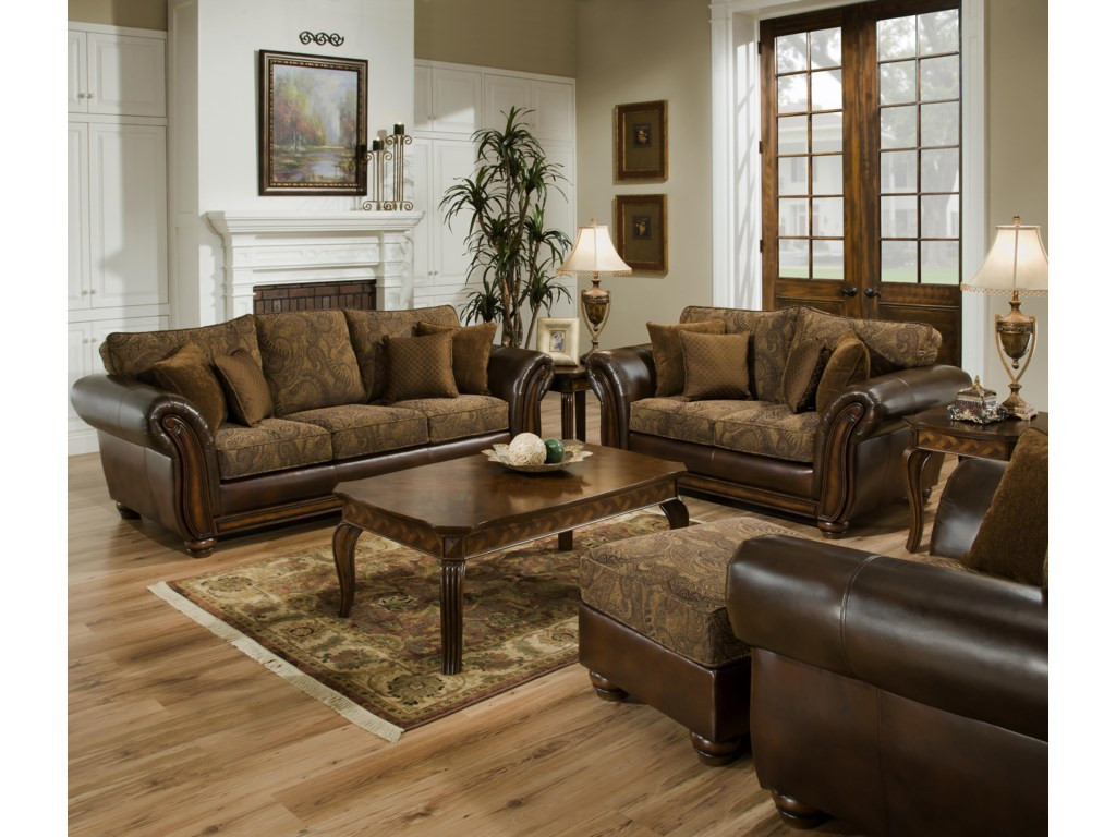Shown with Love Seat, Ottoman and Chair