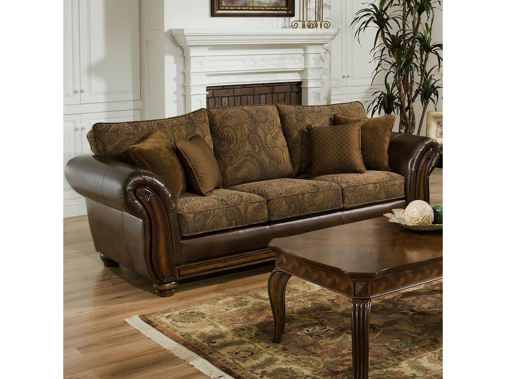 Simmons Upholstery 8104Stationary Sofa