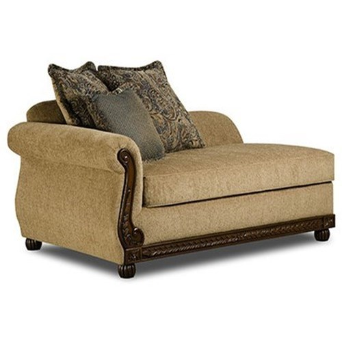 United Furniture Industries 8115 Traditional Chaise Beck 39 S Furniture Chaises Sacramento