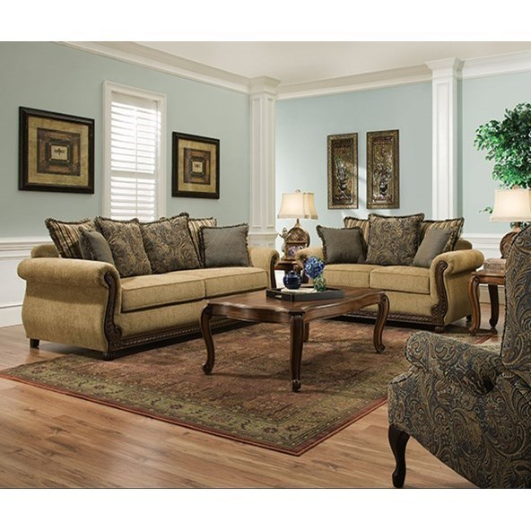 Simmons Upholstery 8115 8115SleeperSofa Traditional Queen Sleeper