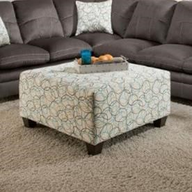 United Furniture Industries 8165Square Cocktail Ottoman