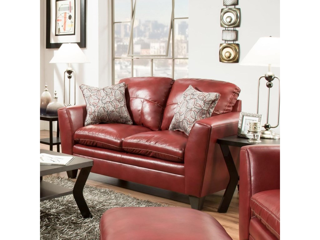 United Furniture Industries 8165Transitional Loveseat