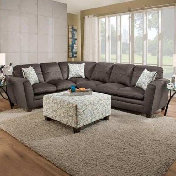 United Furniture Industries 8165Transitional Sectional Sofa