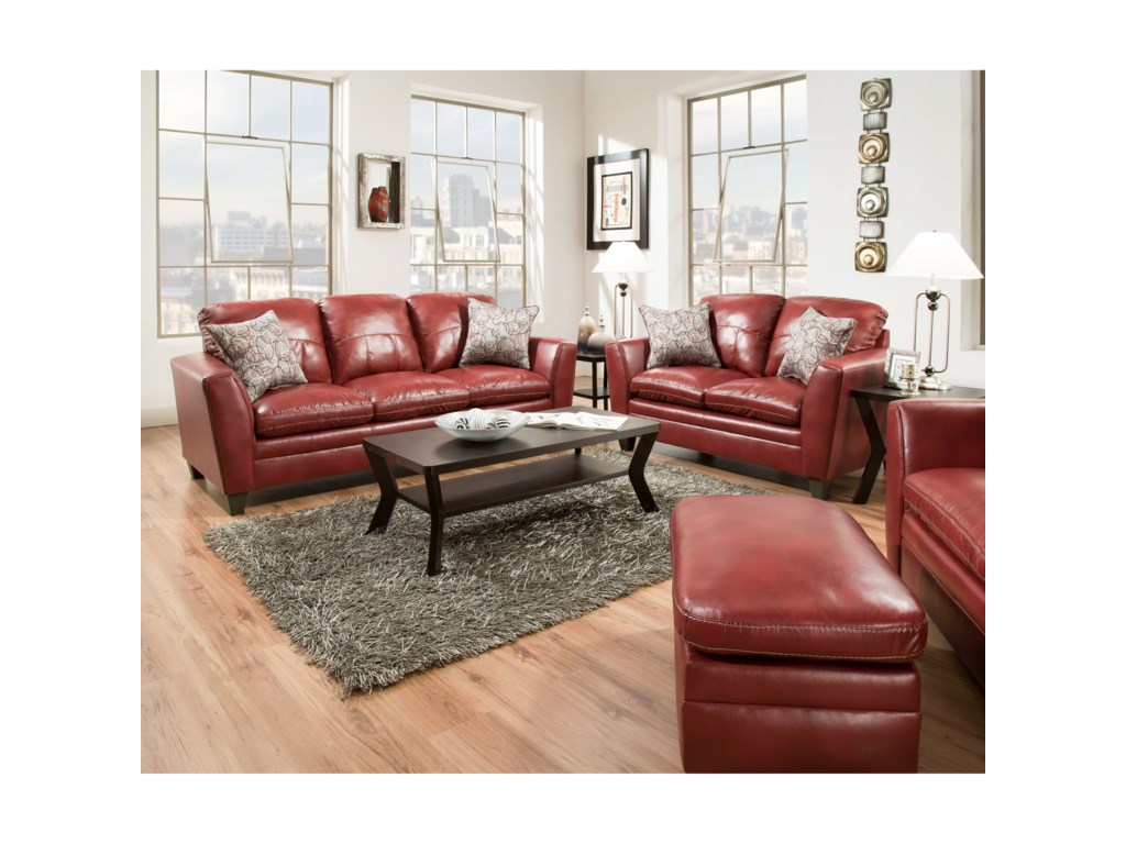 United Furniture Industries 8165Transitional Sofa
