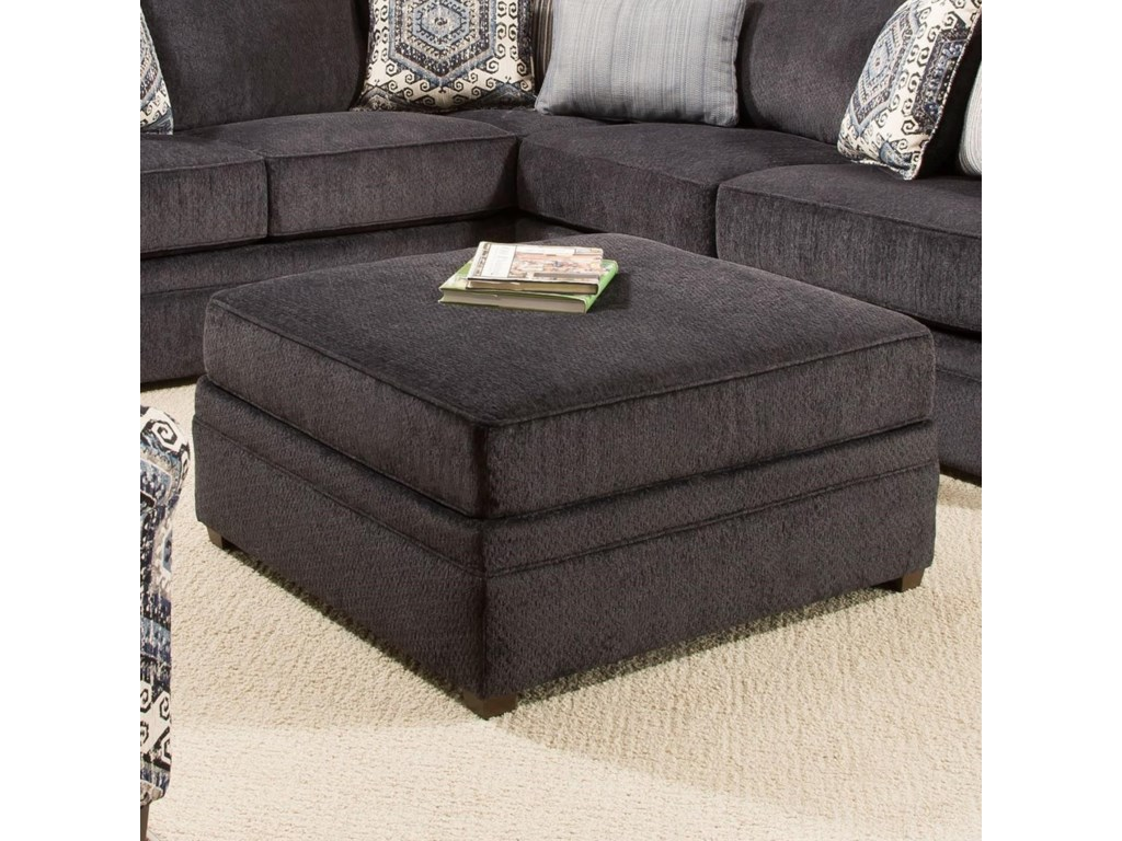Simmons Upholstery 8530 BRTransitional Cocktail Ottoman