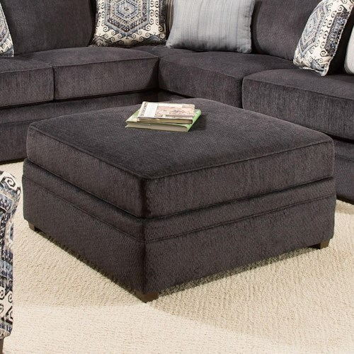 United Furniture Industries 8530 BR Transitional Cocktail Ottoman