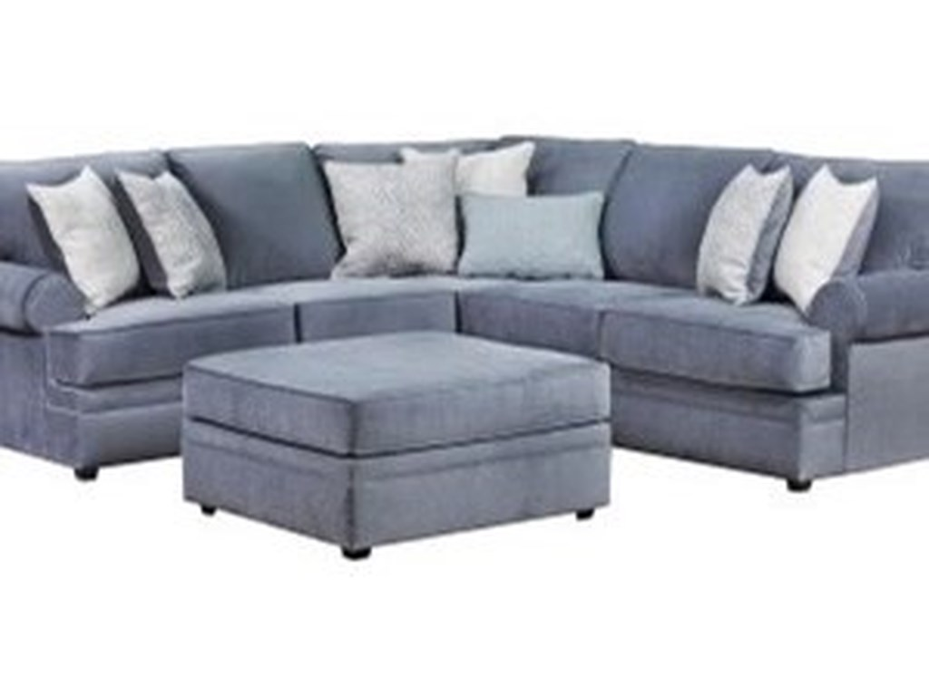 Blue Hill BlakeTransitional Sectional Sofa