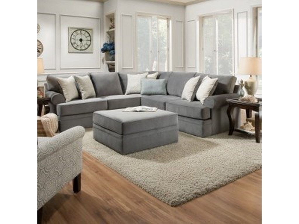 United Furniture Industries 8530 BRTransitional Sectional Sofa