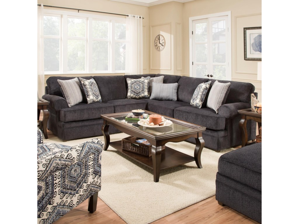 Simmons Upholstery 8530 BRTransitional Sectional Sofa