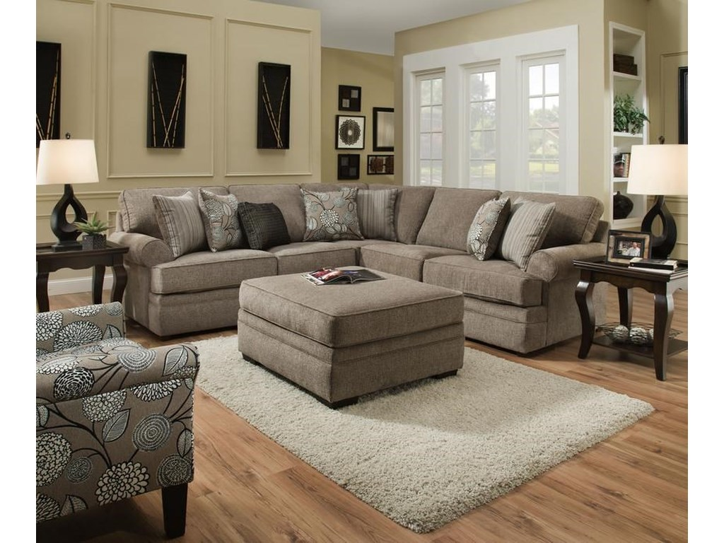 Lane Home Furnishings 8530 BRTransitional Sectional Sofa