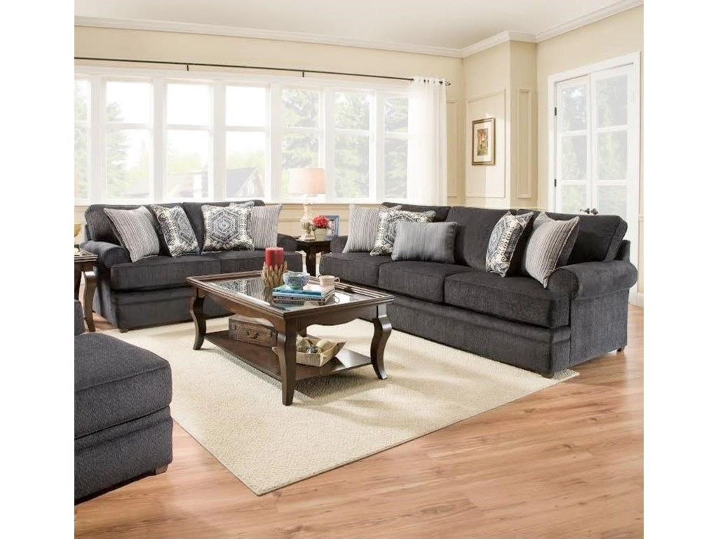 Simmons Upholstery 8530 BRStationary Living Room Group