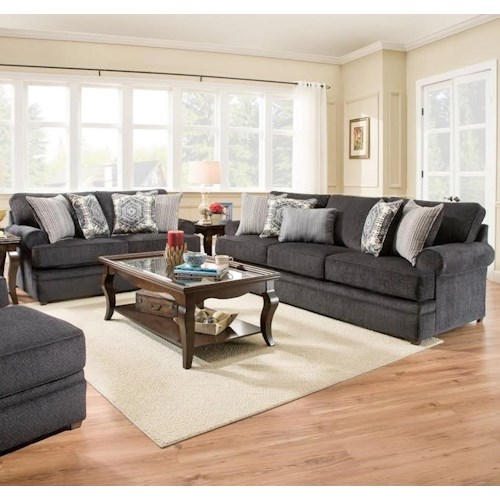 United Furniture Industries 8530 BR Stationary Living Room Group
