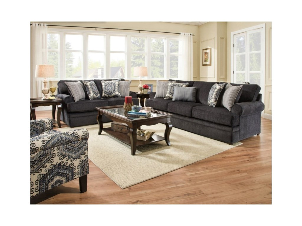 United Furniture Industries 8530 BRTransitional Loveseat