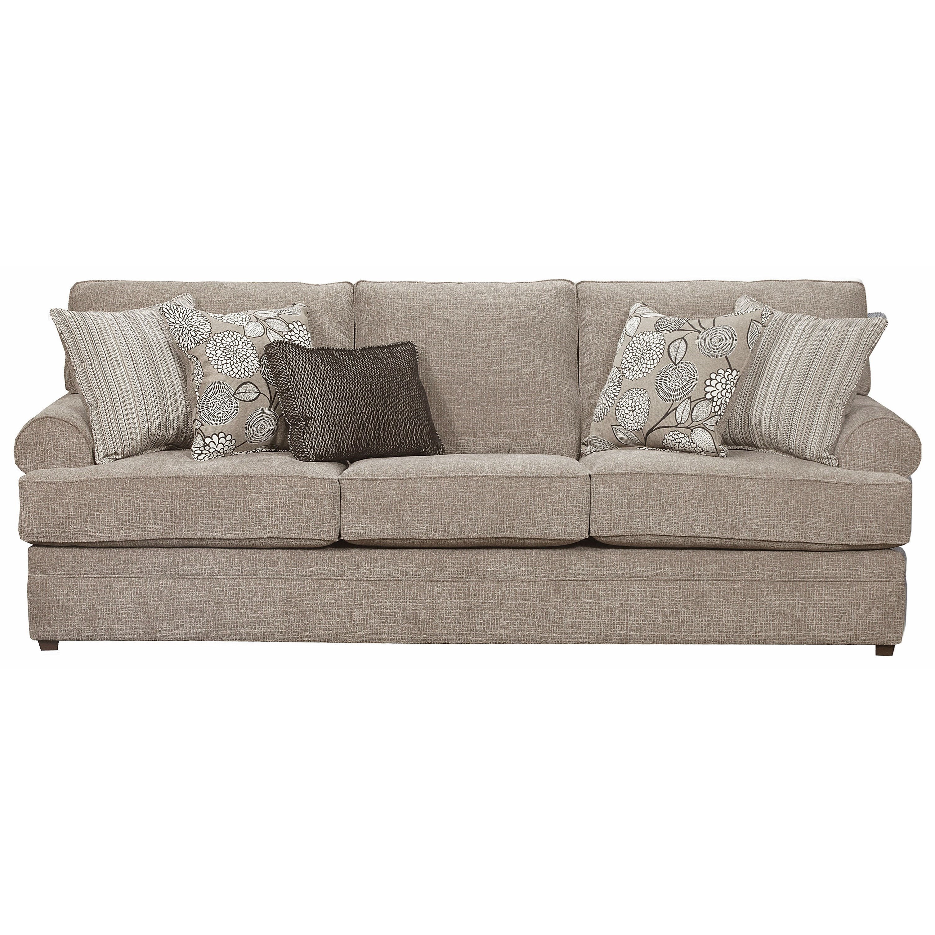 Captivating Simmons Upholstery 8530 BRTransitional Sofa ...