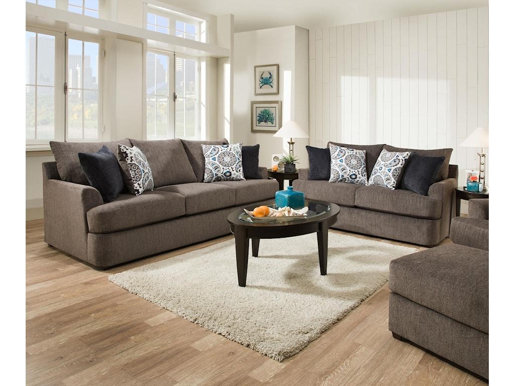 United Furniture Industries 8540 GrandSofa & Love Seat