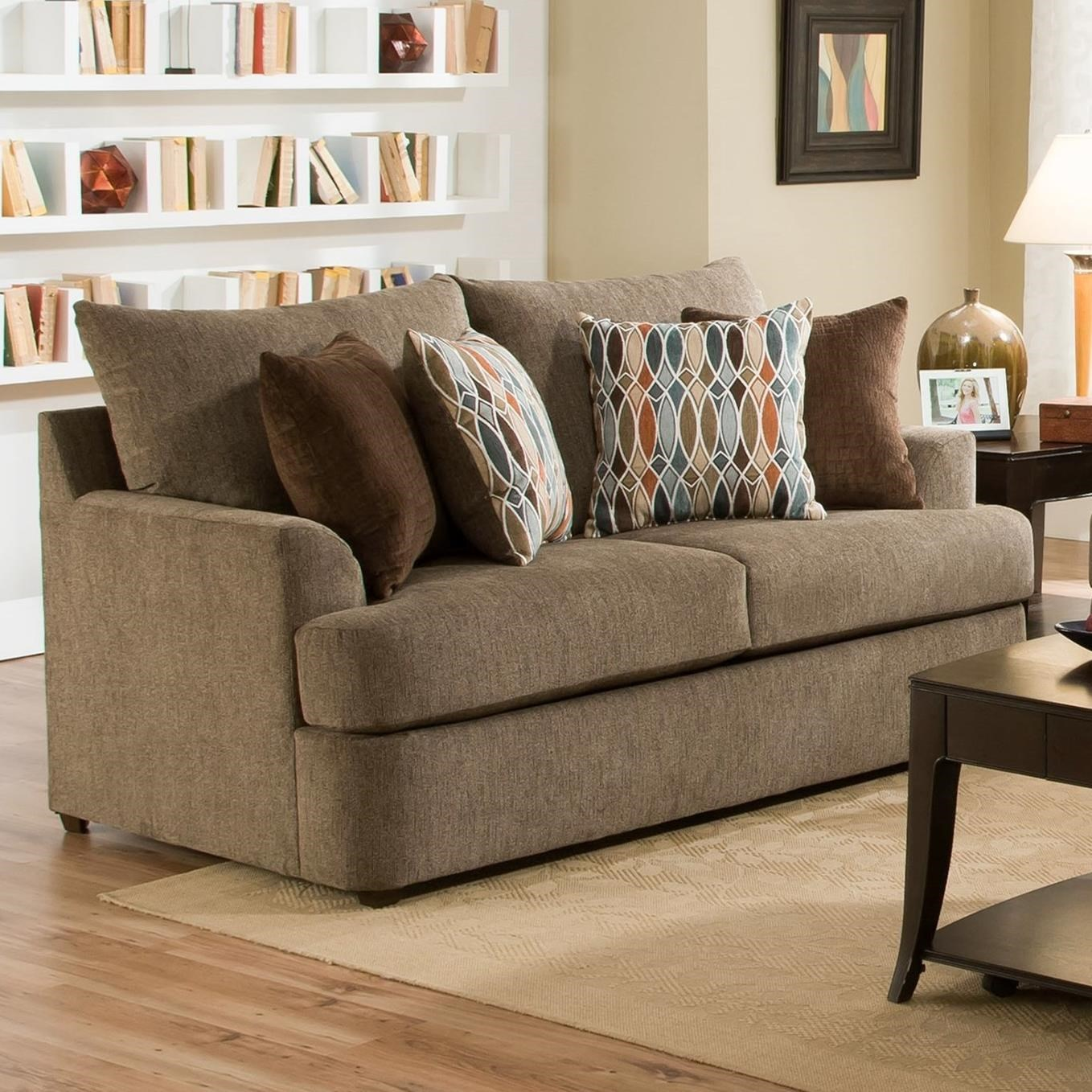 Genial United Furniture Industries 8540BRCasual Loveseat ...