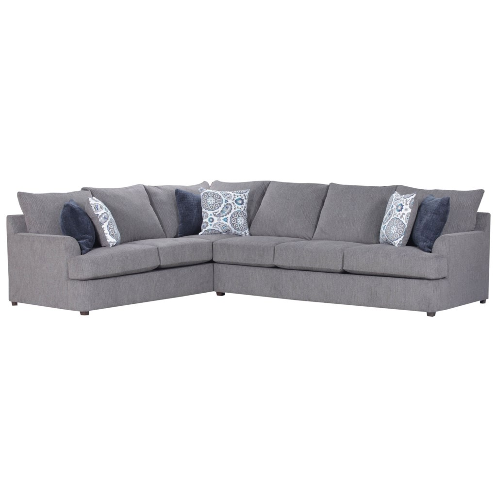 Simmons Upholstery 8540BR Casual Sectional Sofa Dunk & Bright