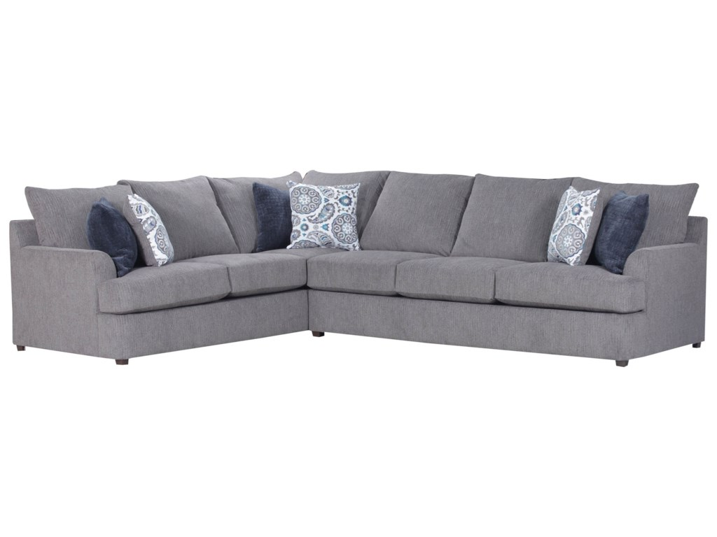 United Furniture Industries 8540BRCasual Sectional Sofa