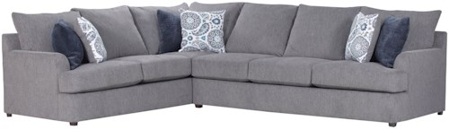 United Furniture Industries 8540BR Casual Sectional Sofa