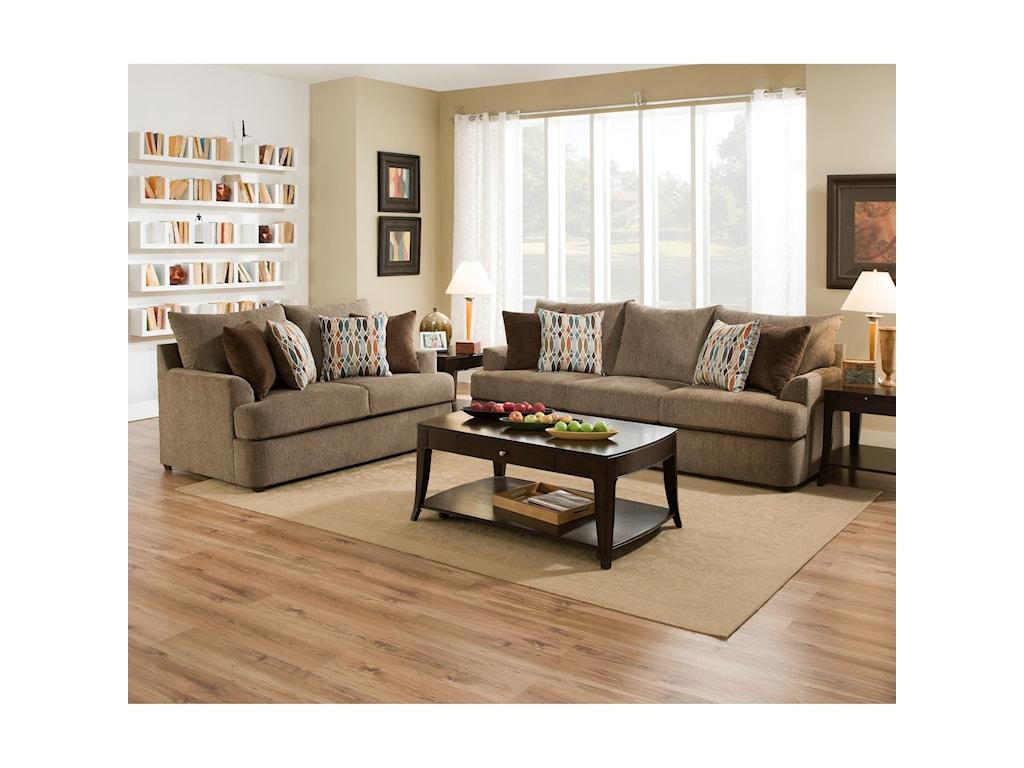 United Furniture Industries 8540BRCasual Sofa