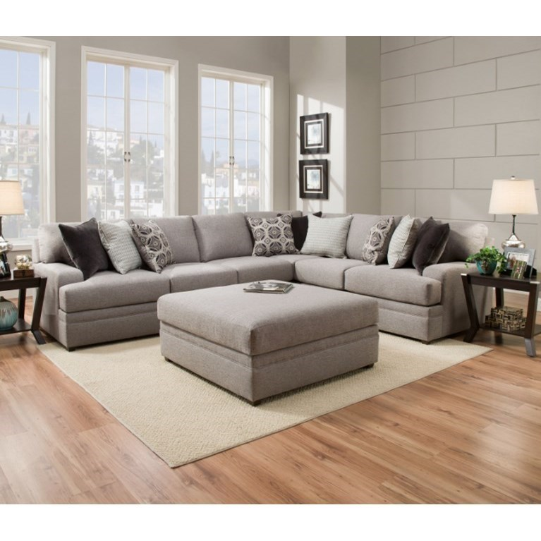 United Furniture Industries 8560 BRCasual Sectional Sofa