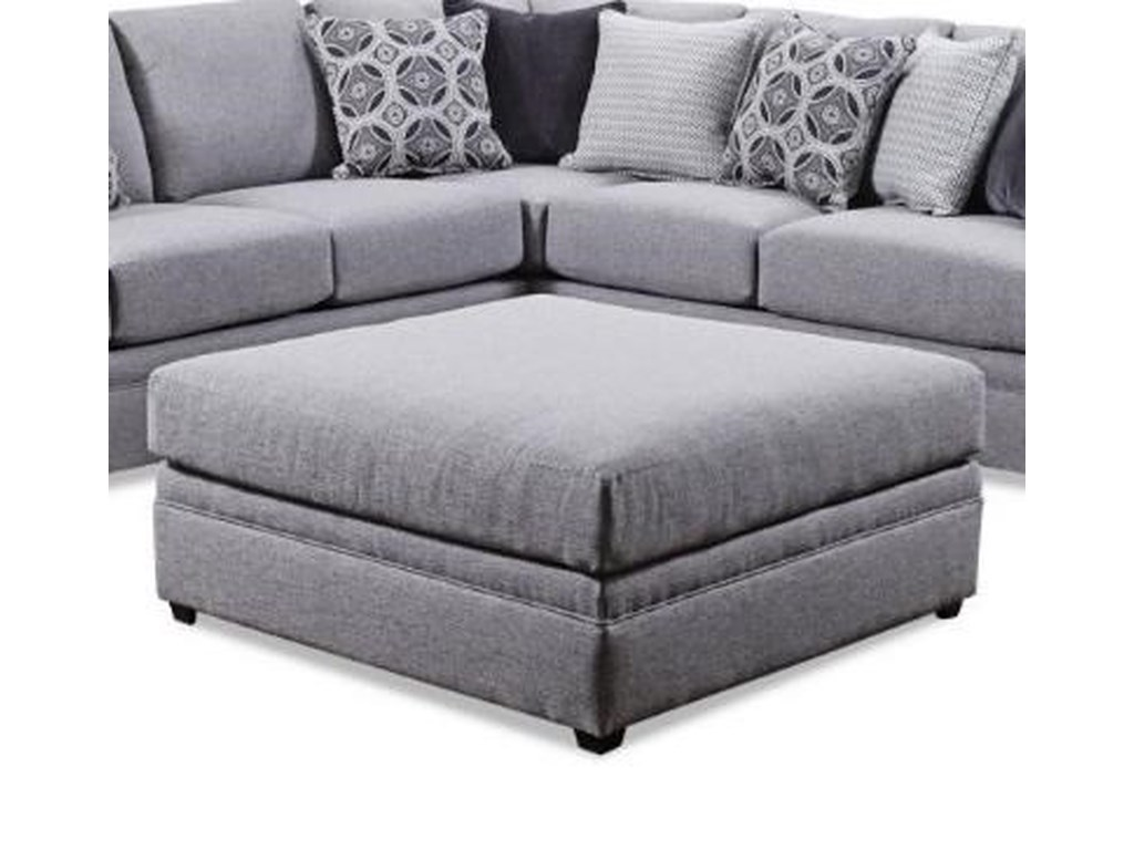 United Furniture Industries 8560 BRSquare Cocktail Ottoman