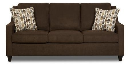 Simmons 8950 Queen Contemporary Java Brown Sofa Sleeper