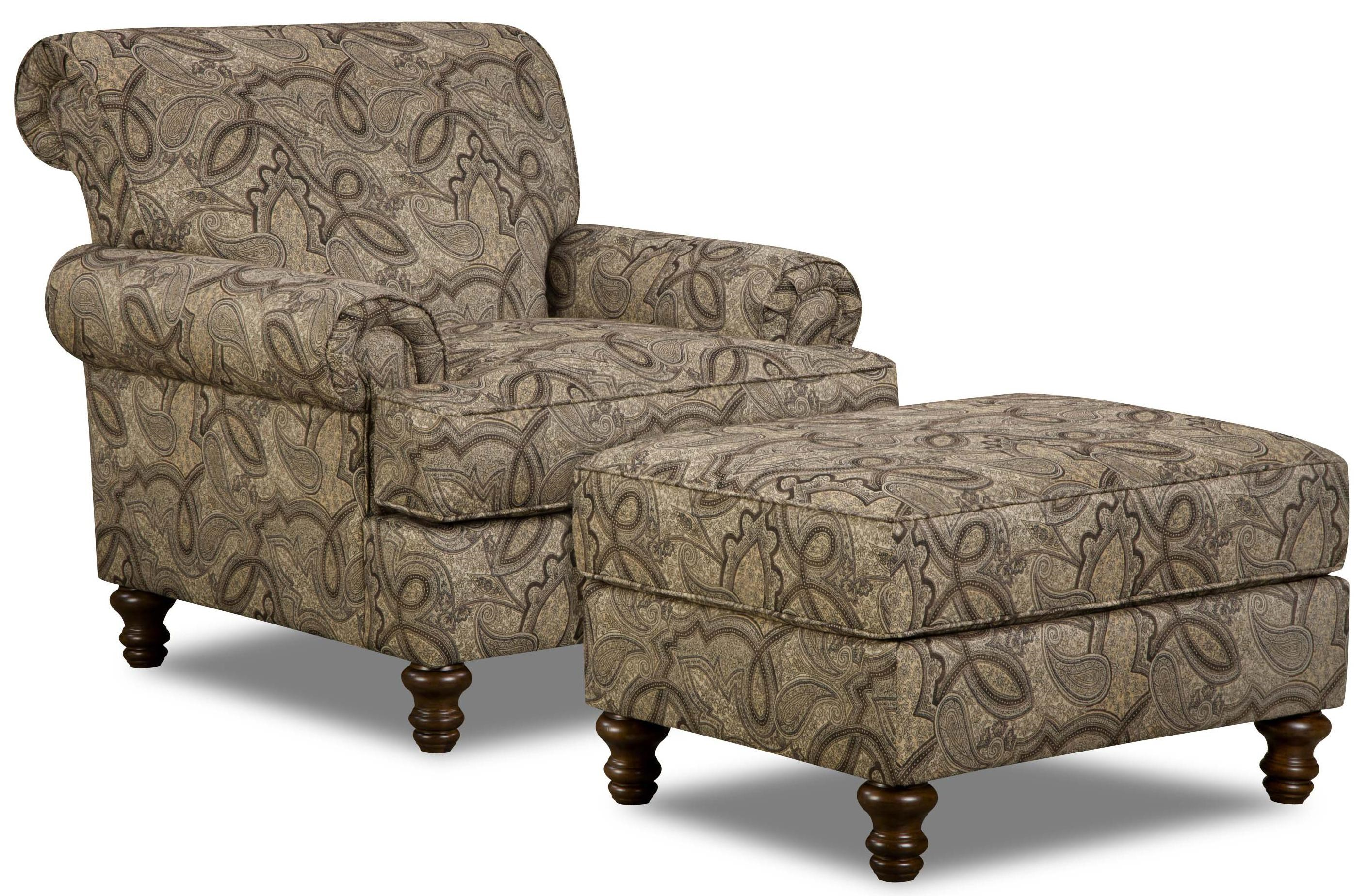 Simmons Upholstery 90001Accent Chair And Ottoman ...