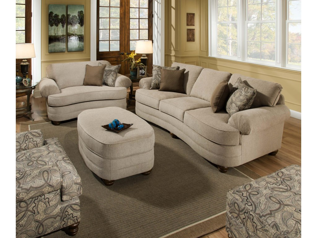 Simmons Upholstery 90001Accent Ottoman