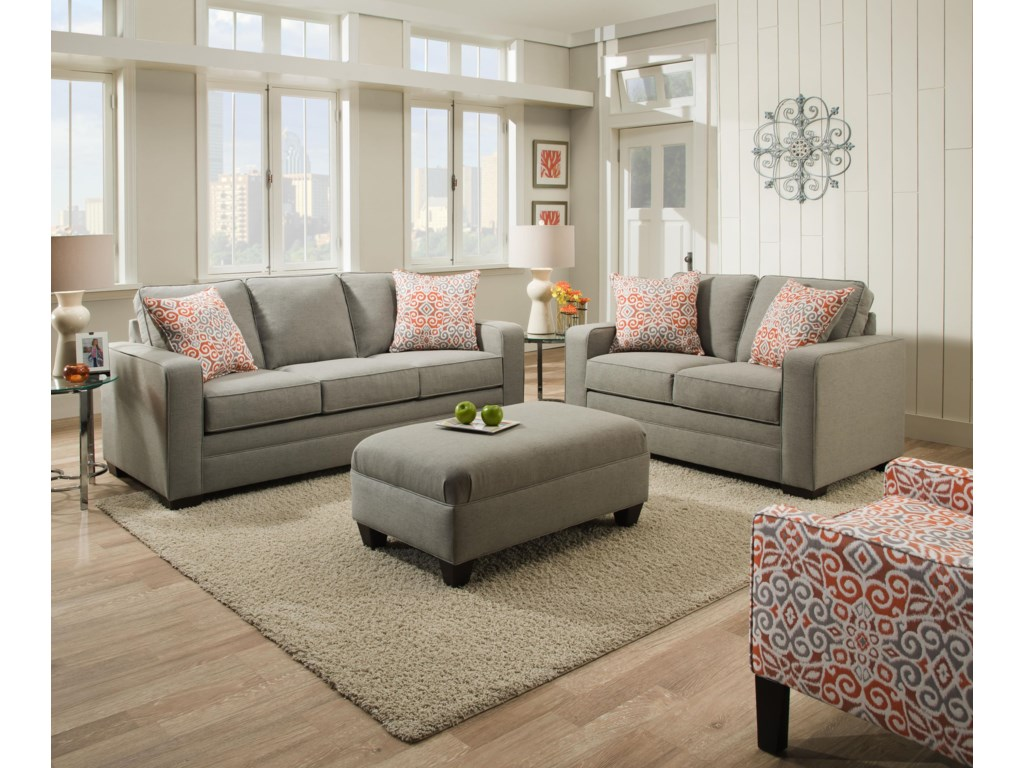 United Furniture Industries 9064 UnitedLoveseat