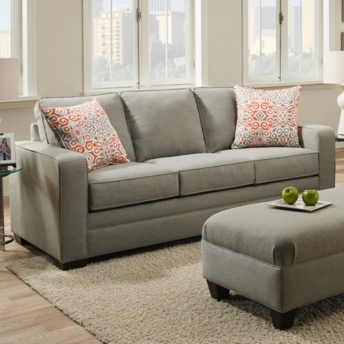 Lovely Simmons 9064 United Transitional Queen Sleeper Sofa Photo - Minimalist simmons sofa bed In 2018