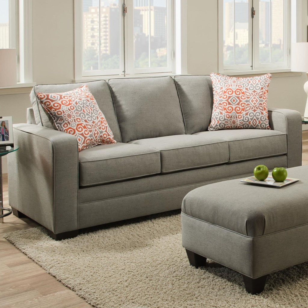 Simmons Upholstery 9064 United Transitional Sofa Dunk & Bright