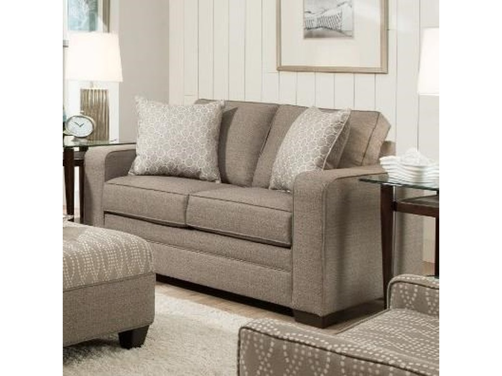 United Furniture Industries 9065Transitional Loveseat
