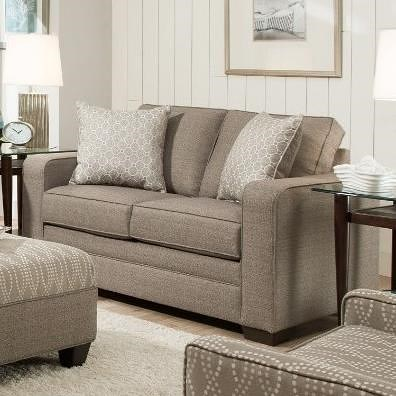 United Furniture Industries 9065 Transitional Loveseat with Track Arms