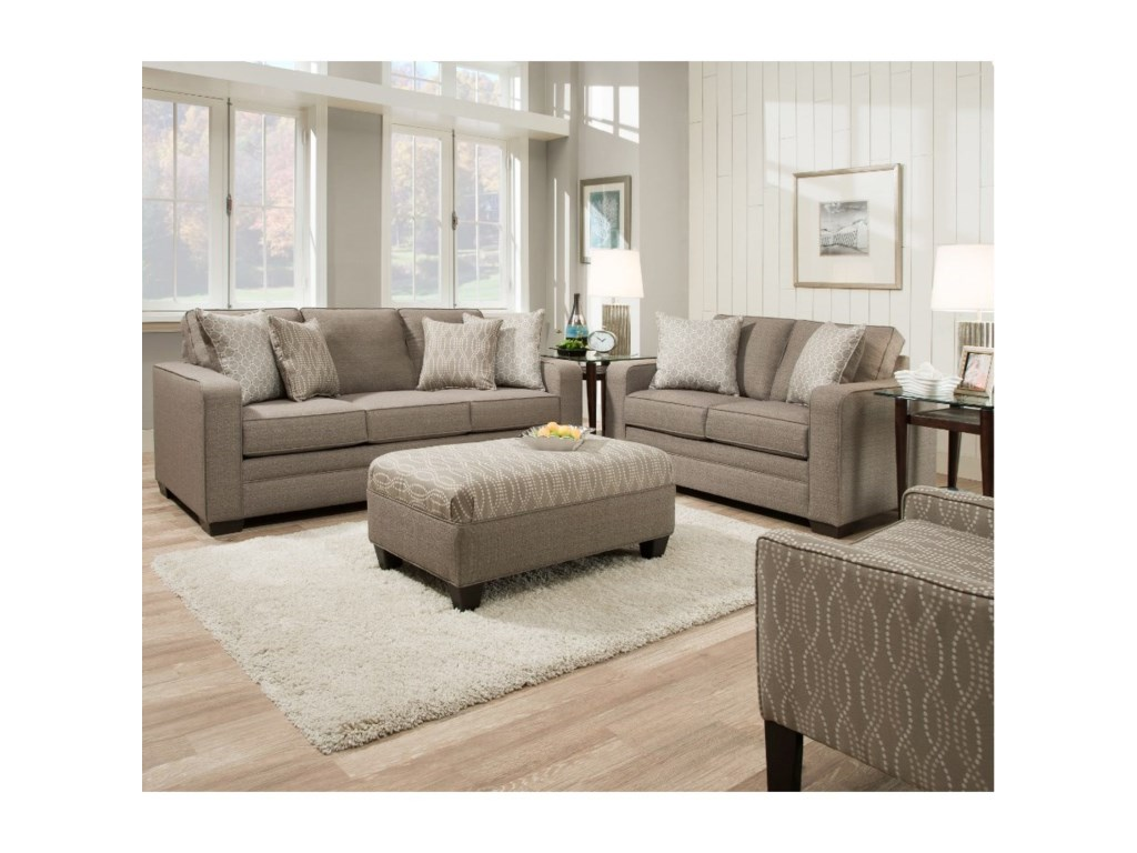 United Furniture Industries 9065Transitional Ottoman