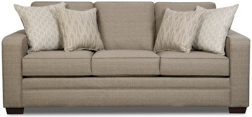 United Furniture Industries 9065 Transitional Sofa with Track Arms