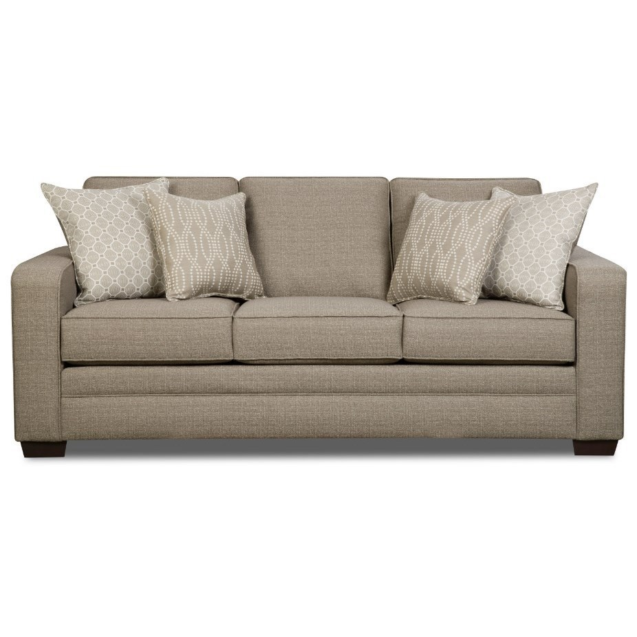 United Furniture Industries  Transitional Sofa with Track Arms