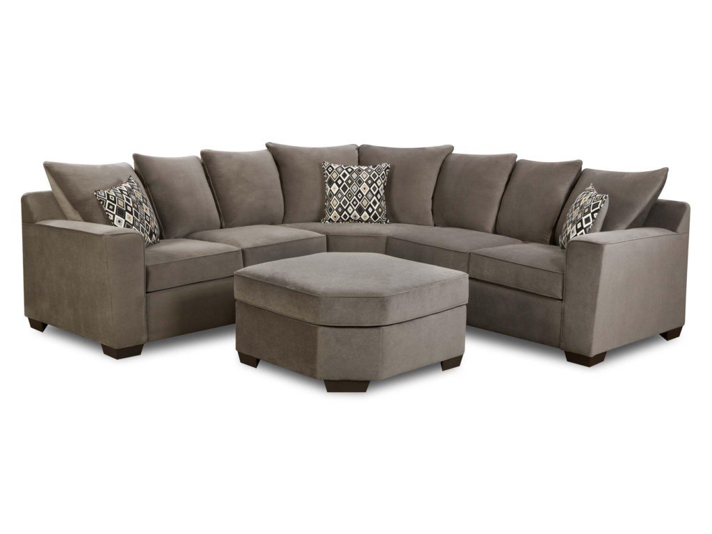 Simmons Upholstery 9070 Transitional 2 Piece Sectional Sofa with ...
