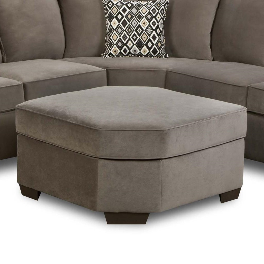 Simmons Upholstery 9070 Transitional Wedge Ottoman Dunk Bright  ~ Sectional Sofa With Wedge