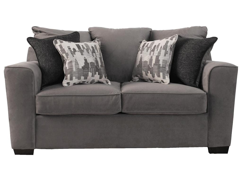 Simmons Upholstery Roxanne Gunsmoke Loveseat Royal Furniture