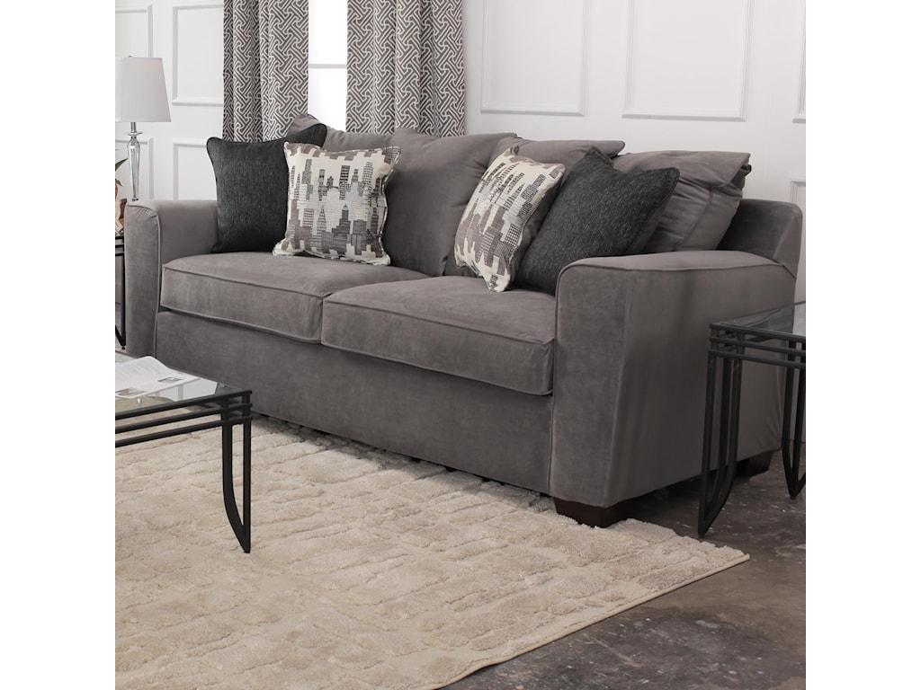 Simmons Upholstery RoxanneGunsmoke Sofa