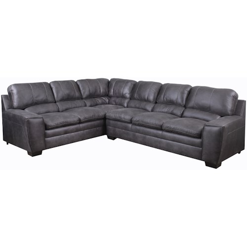 United Furniture Industries 9085 Casual 5 Seat Sectional