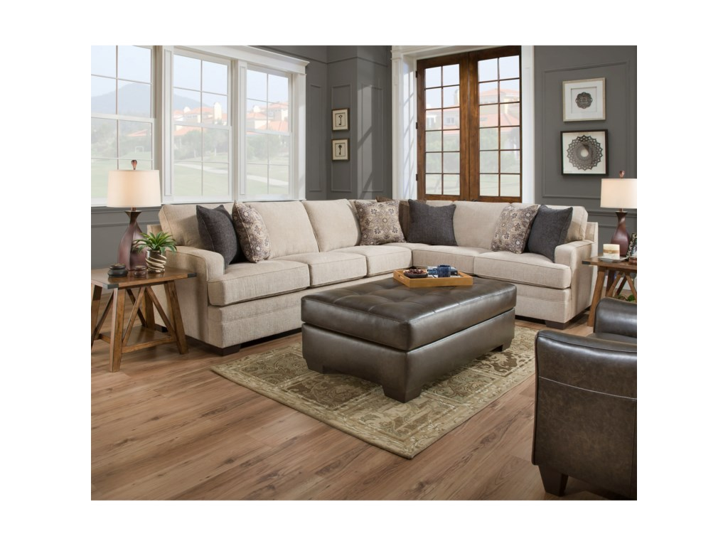 United Furniture Industries 9165BR5 Seat Sectional