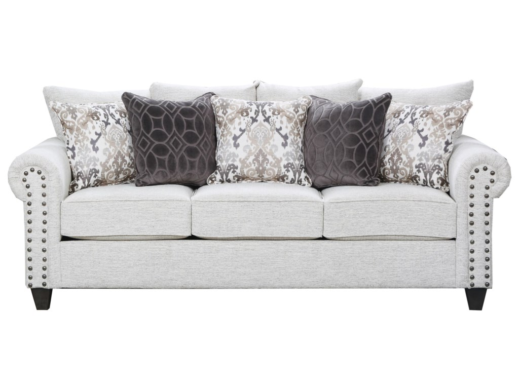 9175br Transitional Sofa With Nailhead Trim By United Furniture Industries
