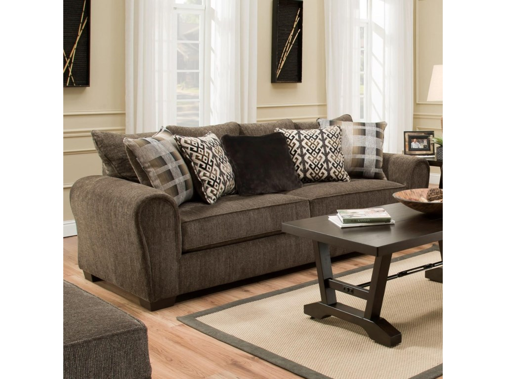 9182br Casual Sofa By United Furniture Industries At Household Furniture