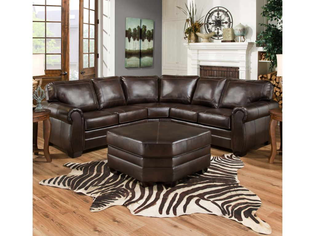 Simmons Upholstery 9222sectional Sofa Shown With Wedge Ottoman