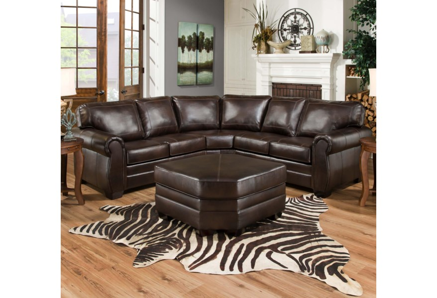 United Furniture Industries 9222 Traditional Sectional Sofa
