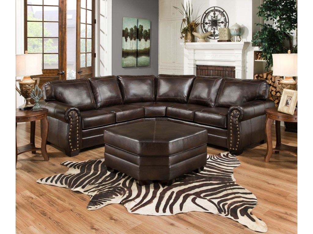 United Furniture Industries 9222Sectional Sofa