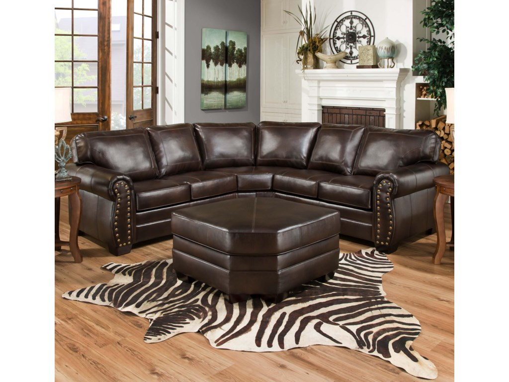 Simmons Upholstery 9222sectional Sofa