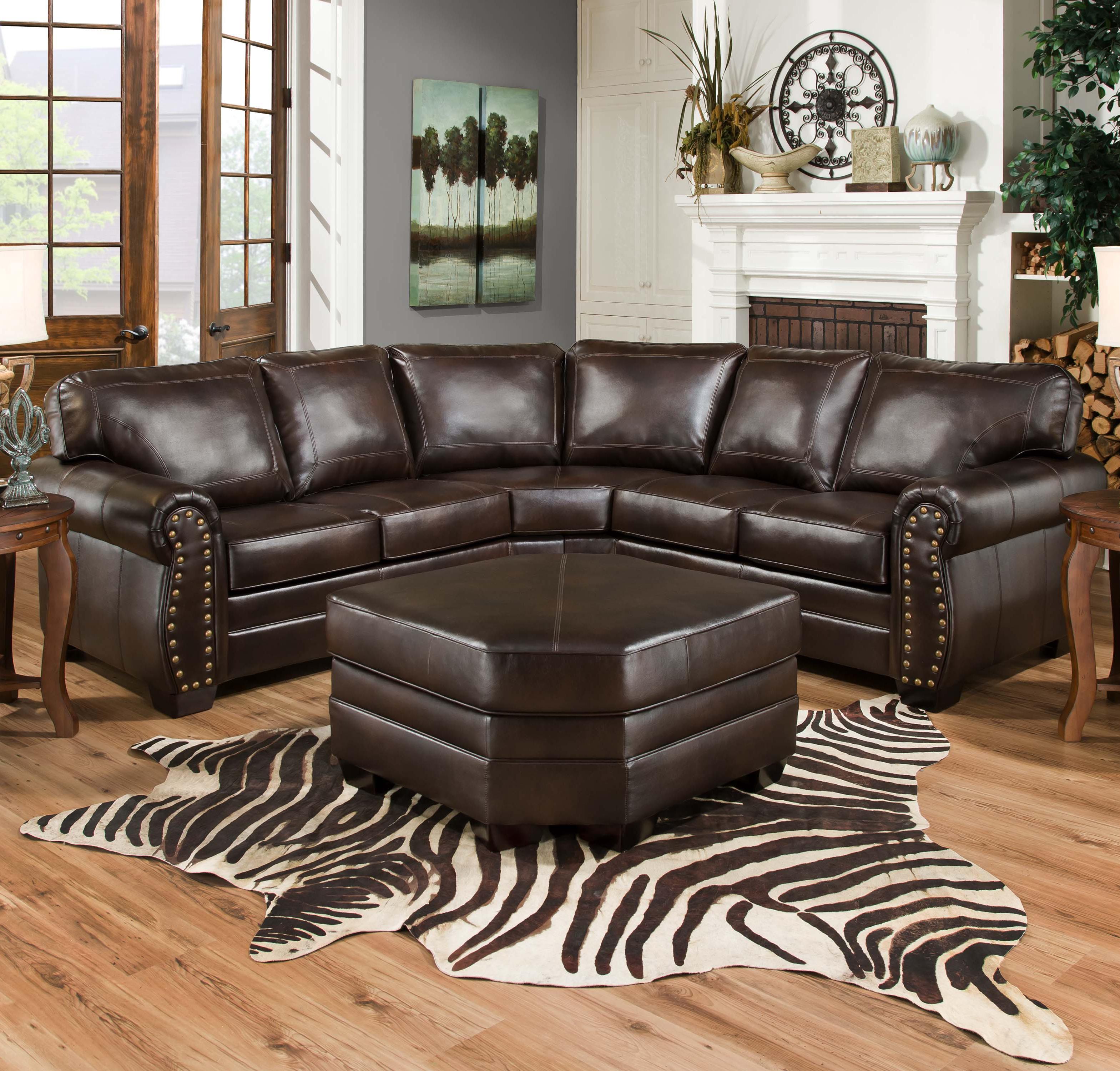 Charmant Simmons Upholstery 9222Sectional Sofa ...